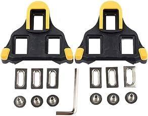 McDoo! 6 Grad Float Bike Cleats selbsthaftende Rennradpedal-Klammern für Shimano SH-11 SPD-SL System, Gelb