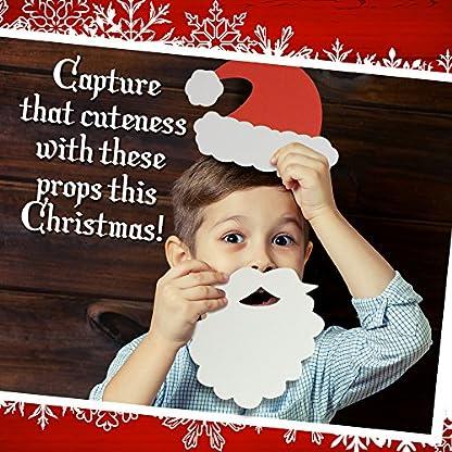 Paquete de 65 – Accesorios Festivos de Navidad para Photocall, Photo Booth Fotocall – Selección de Lentes, Sombreros, eslogans y Señales – Ideales para Fiestas de Navidad.
