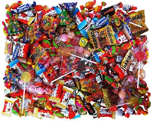Süßigkeiten – Mix 210-teilig, für Kindergeburtstag mit 6 Kinder, 1er Pack (1 x (Bonbons Halloween)