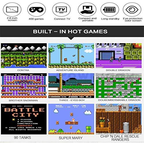 Altsommer Retro Mini Handheld Spielkonsole,Retro Tragbare Spiele Konsolen inkl. 400,Vintage Video Spielen 2,8 Zoll HD-Bildschirm Arcade Erholung System,Geschenke für Kinder (Gelb)