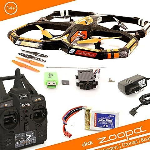 ACME - zoopa Q 650 razor Movie Quadro - genial für Draussen 2,4GHz | Licht zu schaltbar | 360° Flip | 3 Geschwindigkeiten (ZQ0661)