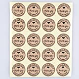 100pcs 25mm Round Kraft Paper Thank You Hand Made With Love Sticker Wedding Favor Labels Gift Bag Baking Cookies Label