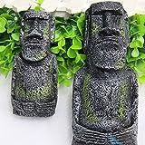 Changlesu 2pz antica isola di Pasqua statua testa ritratto acquario casa desktop decorazione accessori