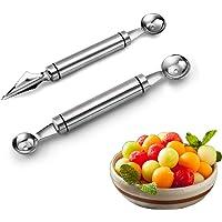 Outil de sculpture de fruits, outil de creusement de boule, outil de cuisine multifonction en acier inoxydable, outil de…
