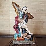 Heiliger Sankt Michael Deko Figur Heiligenfigur Erzengel Religions Statue Sainkt
