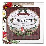 Hallmark - Pack de tarjetas de Navidad. 18 tarjetas, 3 diseños