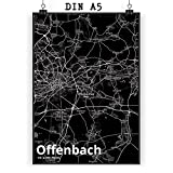 Mr. & Mrs. Panda Poster DIN A5 Stadt Offenbach Stadt Black