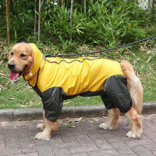 YF Regenmantel-Haustier des Gelben Und Schwarzen Hundes Regnerischer Tag Der Wasserdichten Kleidung Liefert Fehlschlag 112Cm Rückseitige Länge (Einfach Genie Kostüm)