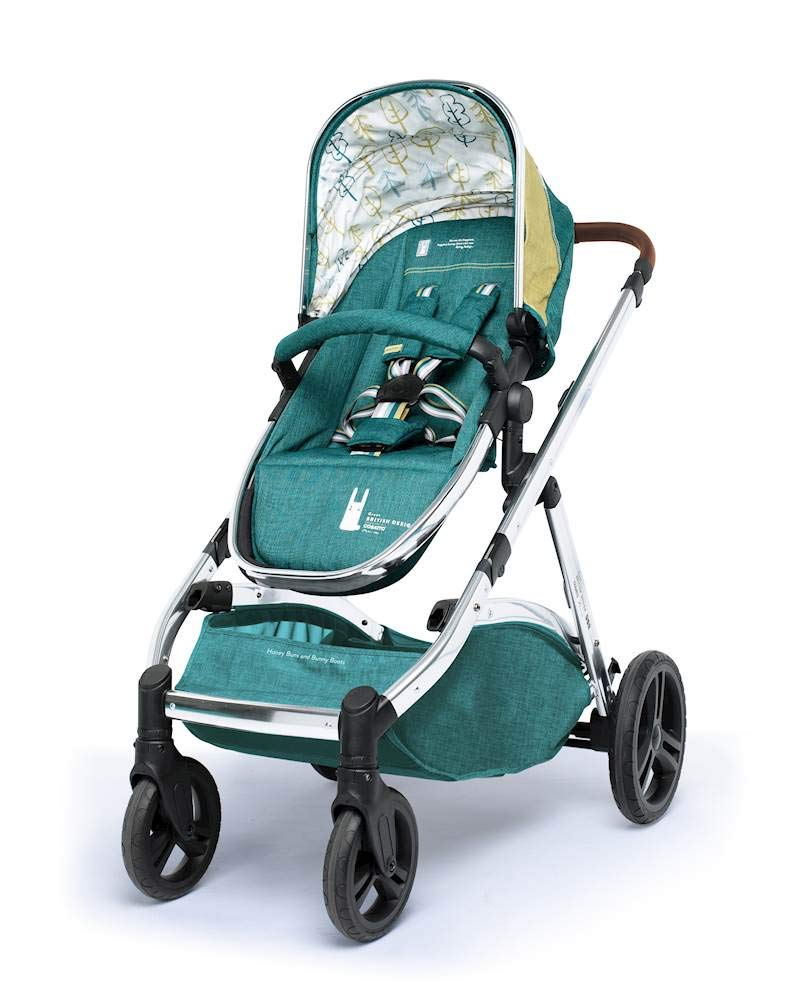 Cosatto Wow XL 3-in-1 Pram and Pushchair, Suitable from Birth - 25 kg, with Tandem Mode and Buggy Board- Hop to It Cosatto The flexible family unit, Wow XL has the capability, straight out of the box, to be used as a single child travel system (3-in-1) or as a double/tandem for an older sibling too, with no need to buy any extras (box includes: 1 x Carrycot and 1 x Seat unit) The spacious carrycot is comfy, with extra padded mattress and apron; easy to manoeuvre with one handed pushbutton carrycot release; swap the from-birth carrycot to reversible pushchair seat when they're ready to sit up; the single pushchair mode supports up to 25 kg so your toddler can use it for even longer; with the added ease of one-handed seat unit recline and integrated calf support; the fully extendable hood with visor is 100 UPF and has a peep hole to keep an eye on little ones High-quality craftsmanship; from woven textured fabrics and discoverable details, to gleaming chrome chassis from significant leatherette handle to exquisite embroideries and felt appliques; each design comes with two cuddly travelling companions, straight from Cosatto's famous storytelling pattern; when you explore together, anything can happen 2