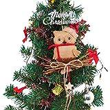 LONGBLE Weihnachtsbaum Anhänger Jute Eule Weihnachtsbaumschmuck 2stück Weihnachten Vögel Deko Christbaumschmuck hängen für Garden Party