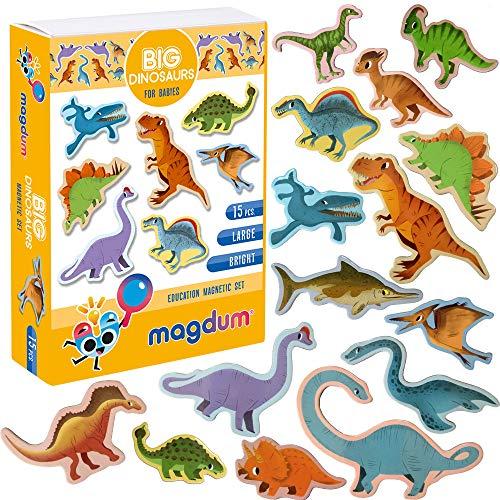 MAGDUM Imanes Animales Dinosaurios - Imanes Pizarra Infantil para Niños -...