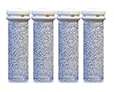 4 x SUPER Coarse Micro Mineral Replacement Rollers Compatible with Emjoi Micro Pedi and Compatible with PediSmooth® Pedi Smooth device
