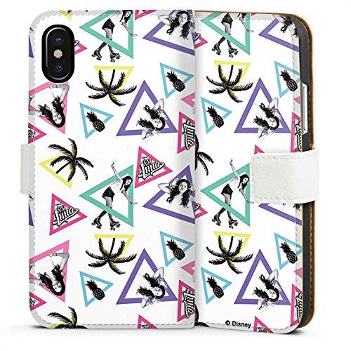 Apple iPhone 6 Plus Silikon Hülle Case Schutzhülle Soy Luna Disney Merchandise Fanartikel Sideflip Tasche weiß