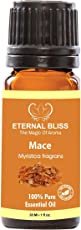 Eternal Bliss Mace Essential Oil(Myristica fragrans) 100% Pure & Natural/Therapeutic Grade Aromatic Oil, uncut Essential Oil (30ML)