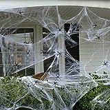 solawill Halloween Spinnennetz , 2 pcs Spinnweben mit 20 Spinnen Halloween Decoration Dehnbare Spinngewebe für Halloween Decoration Party Karneval Deko