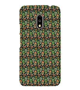 PrintVisa Designer Back Case Cover for Motorola Moto G4 Plus (Girly Pattern Tribal Floral Fabric Culture Rajastan Andhra)