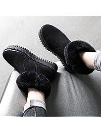 Las Señoras Más Botas de Nieve Gruesa de Cachemira Botas Cortas Zapatos de Algodón,UN,35