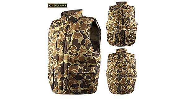 a2fce18fe0aa2 Drake Waterfowl Old School Camouflage LST Down Vest with Magnattach -  Medium: Amazon.co.uk: Sports & Outdoors