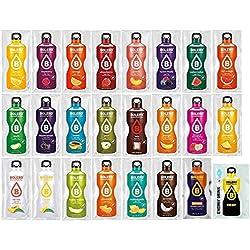 Paquete de 24 sobres bebida Bolero sabores variados y botella para mezclar Foodtastic de 500 ml