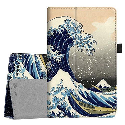Telekom Tablet Puls Hülle - Fintie Premium Kunstleder Folio Schutzhülle Tasche Etui mit Standfunktion für Telekom Puls 8 Zoll Tablet, Die Wellen