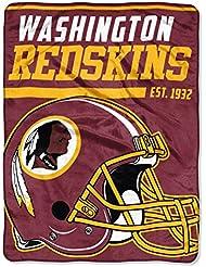 Northwest NFL WASHINGTON REDSKINS 40 Yard Dash Micro Raschel Throw Blanket