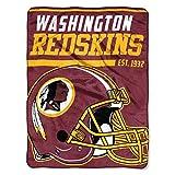 The Northwest Company NFL Washington Redskins 40-Yard Dash Micro Raschel Überwurf Plüschdecke 117 x 152 cm , Burgund