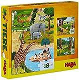 Haba 4960 - Puzzles Tiere, Kinderpuzzles ab 3 Jahren, mit 3 tollen Puzzle-Motive in einer Schachtel
