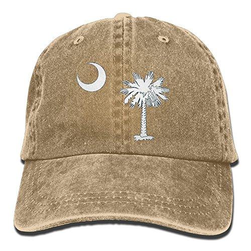 South Carolina Flag Creative Baseball Caps Denim Adjustable Hats