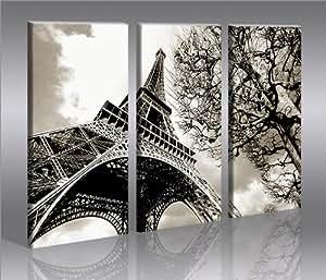 paris eiffel tower bild auf leinwand poster f r die wand. Black Bedroom Furniture Sets. Home Design Ideas