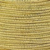 1m Gummikordel - Hutgummi - Rundgummi, hochwertig, extra-stark in 2mm, gold
