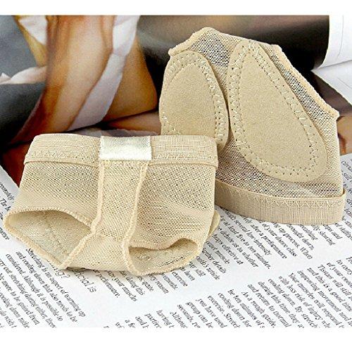 Best Dance 2Paar Footful Bauch Ballett Dance Fuß Pad Fuß Tanga Schutz Kissen Socken Gr. S, Beige - Champagne (Fuß-tangas Für Frauen)