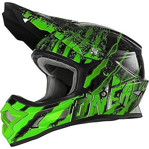 Oneal 3Serie mercurio casco de Motocross, Black Green, XS
