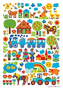 Bygraziela kinderzimmer poster bauernhof 50 x 70 cm retro baby - Amazon kinderzimmer ...