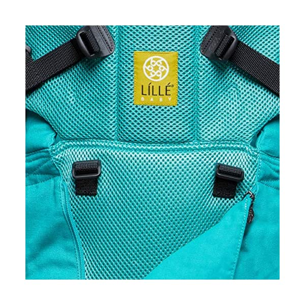 LÍLLÉbaby  Complete All Seasons 6-in-1 Baby Carrier, Carribean Sea Lillebaby With a temperature regulating breathable panel that unzips to encourage airflow in warm conditions and 6 carrying positions - Foetal, infant inward, outward, toddler inward, hip, back - The only carrier you'll ever need! Suitable from 3.2- 20kg (birth to approx. 4 years old), providing extended comfortable use for parent and child with no additional infant support required for new-borns - the ergonomic adjustable seat is acknowledged as 'hip-healthy' by the International Hip Dysplasia Institute Unique spacious head support with elasticated straps - soothes infants with gentle lulling motion and provides excellent support as children grow 9
