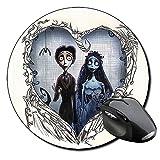 La Novia Cadaver Corpse Bride Tim Burton C Tapis De Souris Ronde Round Mousepad PC