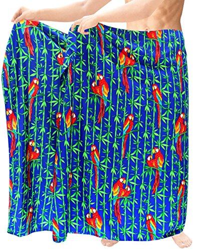La-Leela-para-hombre-sarong-pareo-envoltura-encubrir-ropa-de-playa-del-traje-de-bao-de-bao-azul-hawaiano