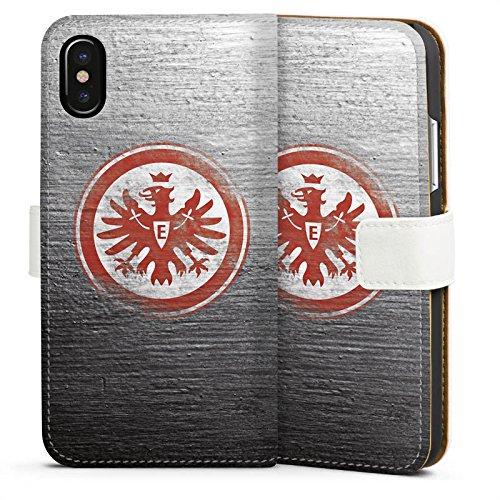 Apple iPhone 6 Hülle Silikon Case Schutz Cover Eintracht Frankfurt Fanartikel Vintage Sideflip Tasche weiß