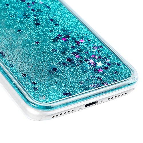 Badalink Coque iPhone 7 / iPhone 8(4.7''), Case Housse Étui Bumper Coque de Protection PC Silicone Gel Transparent Souple Flexible Ultra Mince Slim Léger Anti Rayure Antichoc Housse iPhone 7 / iPhone  Bleu