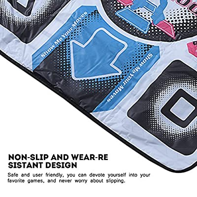Richer-R Dance Mat Dance Pad Non-Slip Dancing Blanket with USB for PC
