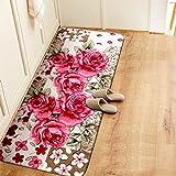 QT Der Eingang des Badezimmer Water Absorber Non-Slip mat Home Schlafzimmer Wohnzimmer Tisch Foot mat-D 70x140cm(28x55inch)