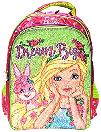 [Sponsored]Barbie Pink School Bag For Children Of Age Group 6-8 Years | Size 16 Inch