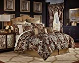 Luxury Duvet Cover Set King Size Kingsize With Pillowcases Quilt Bedding Set Reversible Poly Cotton , Shiney Gold/Black