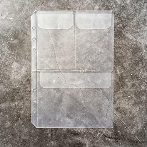 21,6cm A56-holes rund Ring Binder Pocket Notebook Refill DIY Scrapbooking Zubehör Pack of 1 A5 binder pocket 3 pockets in 1. (Trennwände Für 3-ring Binder)