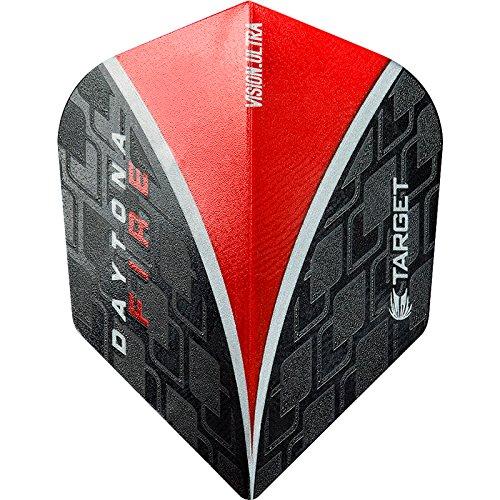 Vision Cible fléchettes Vols-Standard-Daytona Fire-10Sets (30)-Sans Fléchettes d'angle paiement Carte