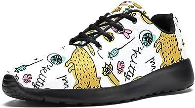 LORVIES - Scarpe sportive da uomo con disegno di gatti, stile casual