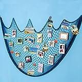 Ecjiuyi Filet de Poissons Porte-Photos Avec 30 Clips, Cadres Photo pour Décoration de la Maison(Bleu)