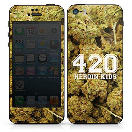 Apple iPhone 4 Case Skin Sticker aus Vinyl-Folie Aufkleber 420 Weed College DesignSkins® glänzend