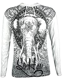 Sure Camiseta con Capucha Hombre Om Ganesha - el Dios Elefante Talla M L XL India Hinduismo Buda Yogi