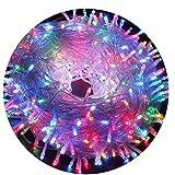 AIZESI Regenbogen Lichterkette 20m LED Innen Batterie Lichterkette Außen 200 LED Lichterkette für Kinder Schlafzimmer,Hochzeit,Weihnachtsbaum,Festival Party,Garten