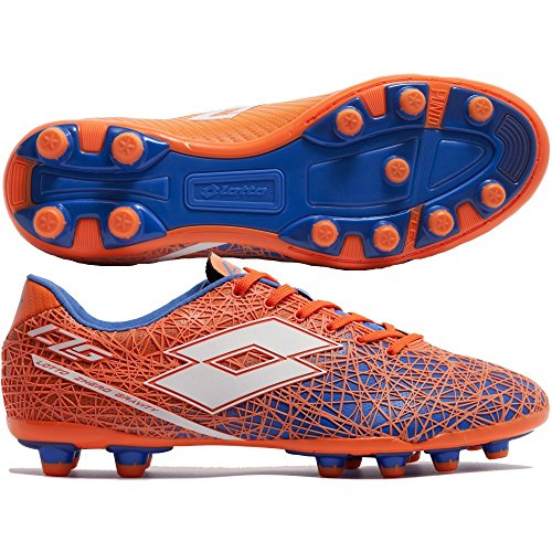 Lotto Lzg Viii 200 Fg, Chaussures de Foot Homme Multicolore - Naranja / Blanco (Fant Fl / Wht)
